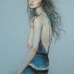 Delicate Pastel painting by Paris based artist Lixu Ping, China