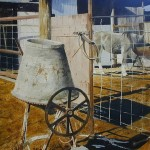 Feeding time, watercolor landscapes by American artist Robert Highsmith