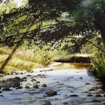 West fork mimbres river. Watercolor landscapes by American artist Robert Highsmith