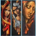 Triptych. Painting by Victoria Stoyanova