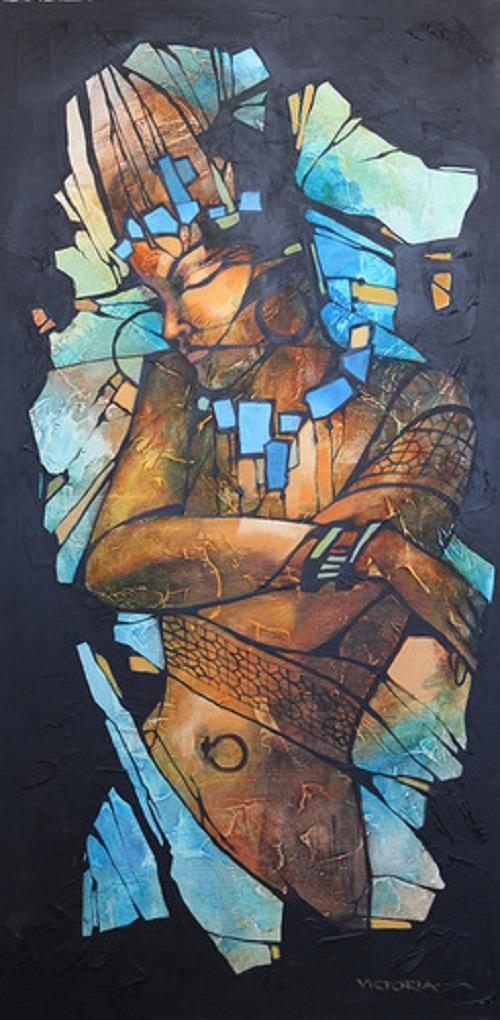 Mosaics. Painting by Victoria Stoyanova
