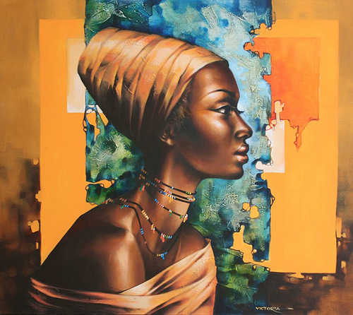 African beauty. Painting by Victoria Stoyanova