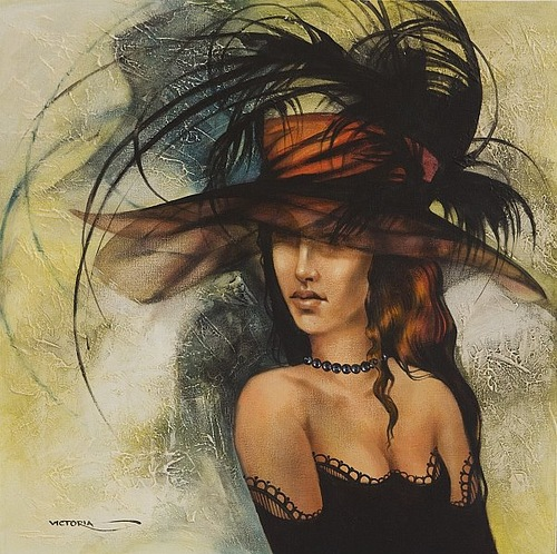 Gorgeous woman. Painting by Victoria Stoyanova