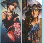 Fashionistas. Painting by Victoria Stoyanova