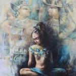 Egyptian motif. Painting by Victoria Stoyanova