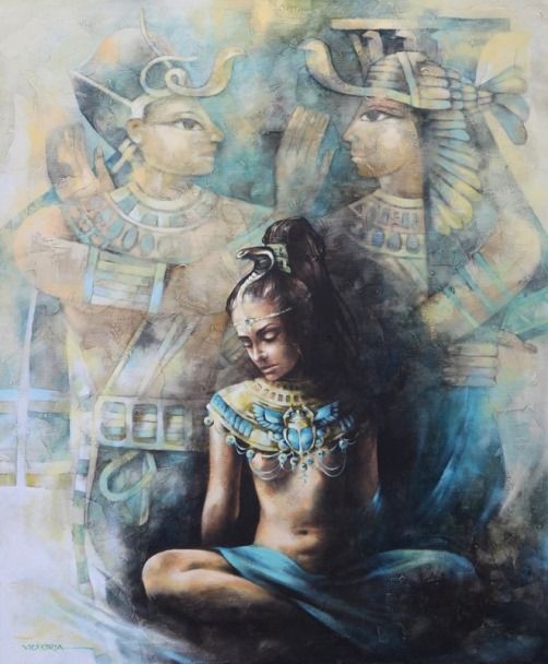 Egyptian motif. Painting by Victoria Stoyanova