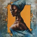 Black beauty. Painting by Victoria Stoyanova