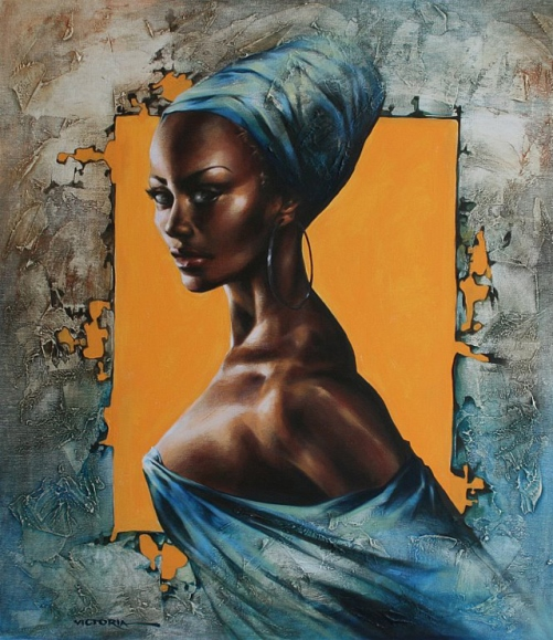 Black beauty. Painting by Victoria Stoyanova