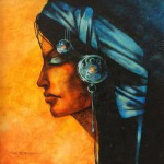 Closed eyes. Painting by Victoria Stoyanova