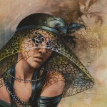 Lady in a hat. Painting by Victoria Stoyanova