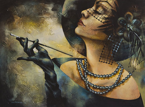 Black pearl. Painting by Victoria Stoyanova