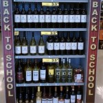 back to school bottles of wine. Wrong market. Bottles of wine are not generally thought of as essential 'going back to school' products