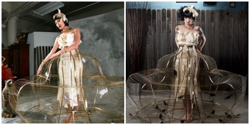birdcage dress made by Kasey McMahon
