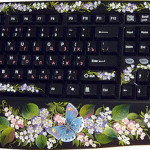Blue butterfly keyboard