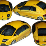 Yellow car shaped mouse