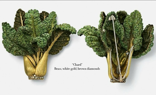 Chard, Vegetable and fruit jewelry by Hemmerle and de Grisogono