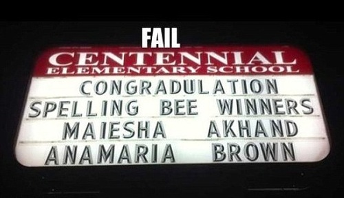 Spelling mishaps