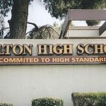 commited. Wrong. This sign at Colton High School suggests it may not be as committed to high standards as it likes to think