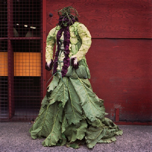dress made out of plants