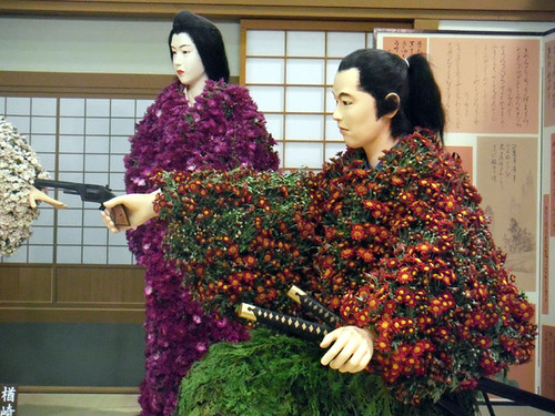 dolls made of flowers Kiku ningyo