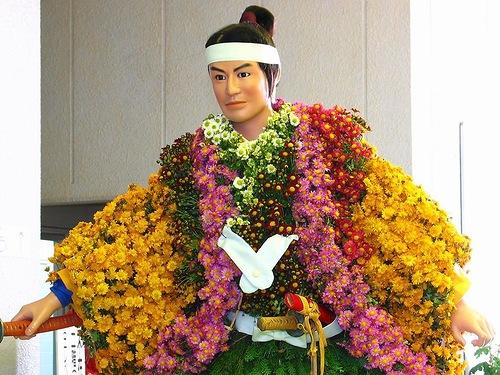 dolls made of flowers Kiku ningyo