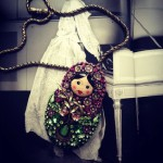"""A Russian Matryoshka doll necklace, accessories by """"Hanna Bernhard"""" French jewelry designers"""