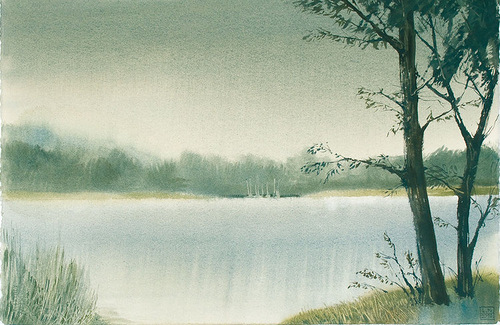 Landscape painted by Leo Kaplan