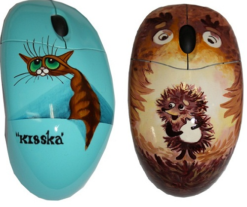 A cat and a hedgehog. Based on Russian cartoon characters