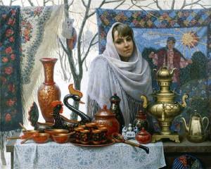 Fair. Painting by artist Igor Belkovsky