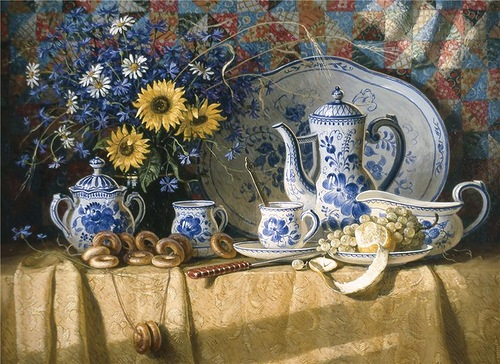 Summer still life. Painting by artist Igor Belkovsky