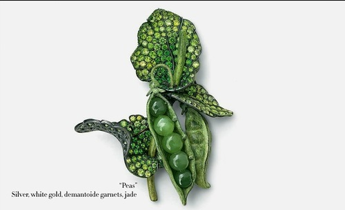 Peas, Vegetable and fruit jewelry by Hemmerle and de Grisogono