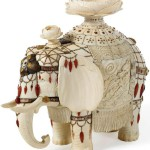 Milk porcelain elephant