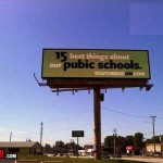 """pubic"" school. Humorous. Of all the letters to miss out of this sign, the 'L' in 'public' was perhaps the worst"