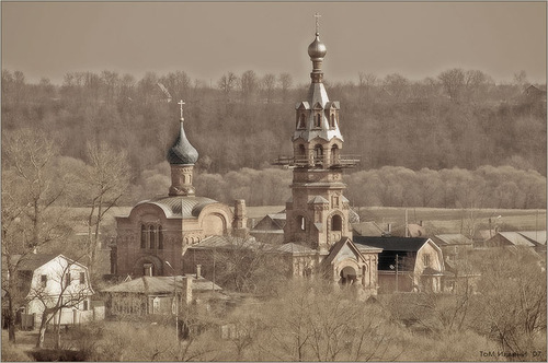 The old church of the ancient city of Borovsk, Kaluga region, Russia