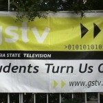 students turn us on. Hilarious. Although this sign for Georgia State Television does not contain any spelling mistakes, the phrase 'Students Turn Us On' may possibly need some altering