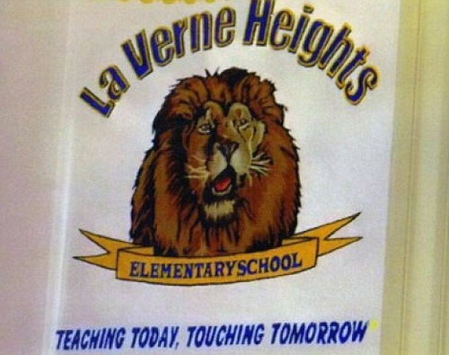 teaching today, touching tomorrow. Parents would be forgiven for getting a little bit concerned over this school's phrase