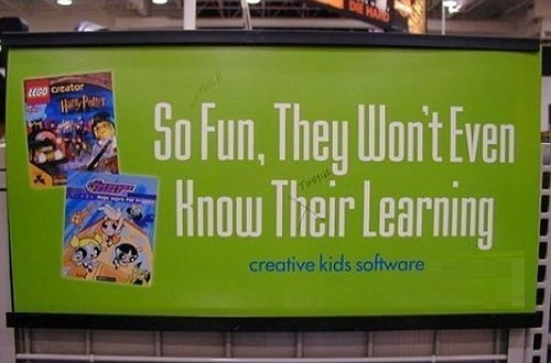 their – they are. Error. Maybe the person who wrote this advert should use one of the learning software programs which they are trying to sell
