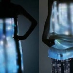 video dress designed by Turkish designer Hussein Cahalayan