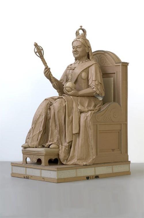 Cardboard sculpture by British artist Chris Gilmour