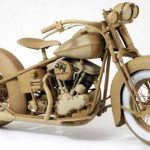 From the series of bikes. Cardboard sculpture by British artist Chris Gilmour