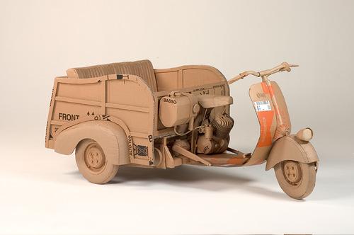 Bike Cardboard sculpture by British artist Chris Gilmour