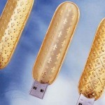 Gold-plated USB keys by French computer designer George Chirita