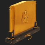 Gold-plated computer inspired by Louis XV, Louis XVI and Empire. George Chirita, French computer designer