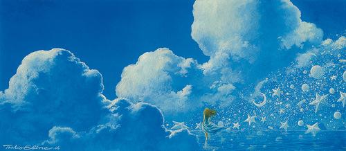 Toshio Ebine artist painting stars