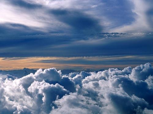 Clouds symbolize the veils that shroud God. Honore De Balzac