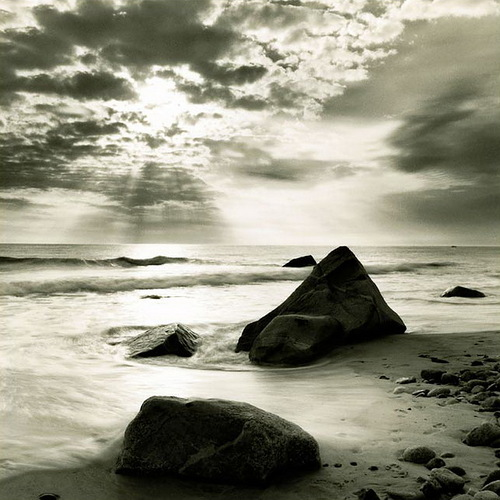 At the dawn. Black and white photo by Toronto based photographer Michael Kahn