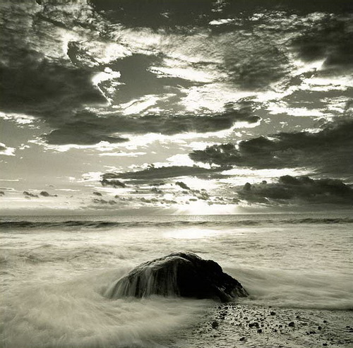 Sunset. Black & white photo by Canadian photographer Michael Kahn