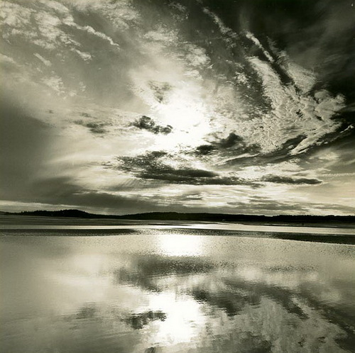 Sky. Black & white photo by Canadian photographer Michael Kahn