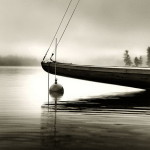 Boat. Black & white photo by Canadian photographer Michael Kahn