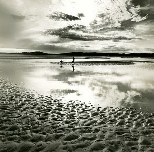 Walk. Black & white photo by Canadian photographer Michael Kahn